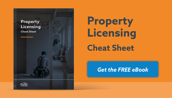 property licencing cheat sheet