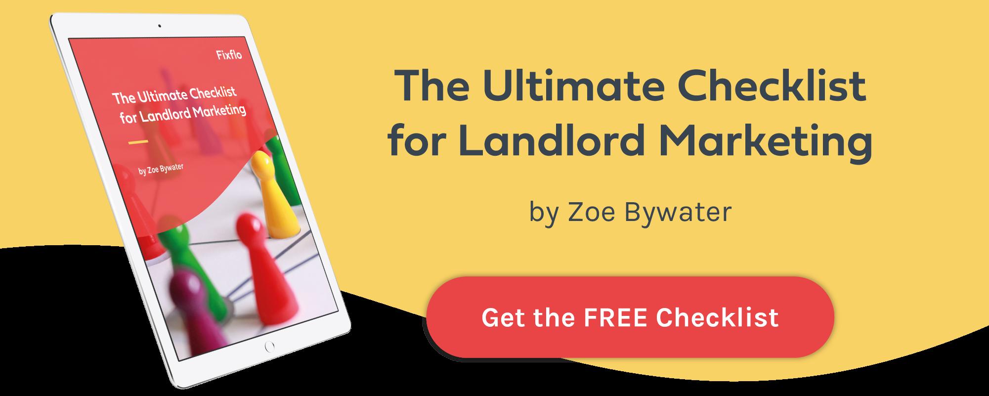 download landlord checklist for landlord marketing