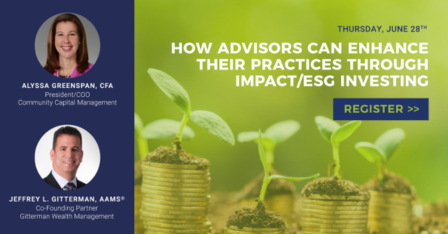 How Advisors Can Enhance Their Practices Through Impact/ESG Investing