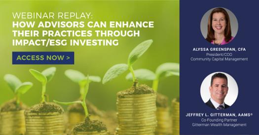 Webinar Replay: How Advisors Can Enhance Their Practices Through Impact/ESG Investing