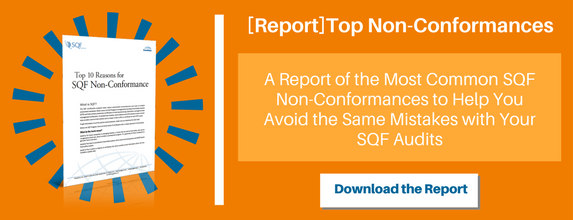 Top 10 Reasons for SQF Non-Conformances