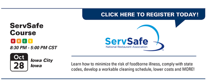 Food service sanitation training available