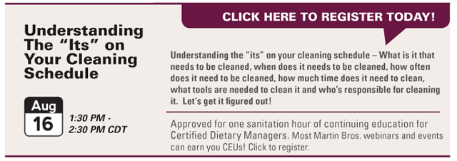Understand Your Cleaning Schedule