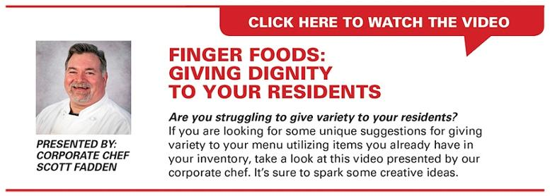 Finger Food Suggestions for Senior Residents