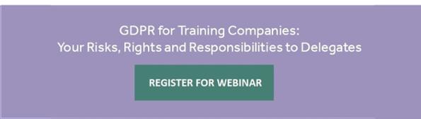 Free Webinar: GDPR for training companies