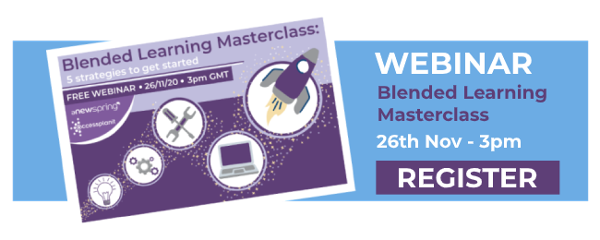 blended learning webinar cta