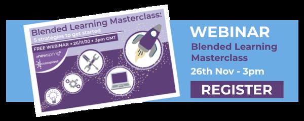 blended learning webinar cta