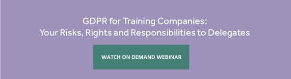 On Demand Webinar: GDPR for training companies