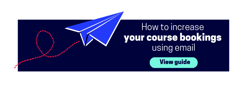 increase your course bookings using email guide cta