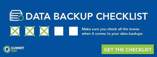 data backup checklist