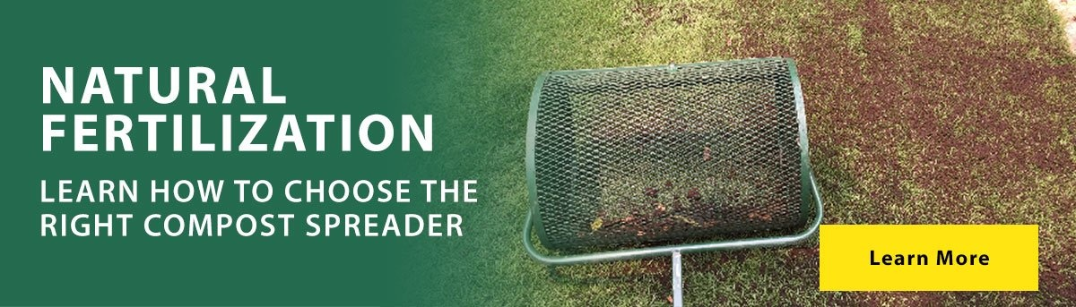 Choose the right compost spreader for topdressing