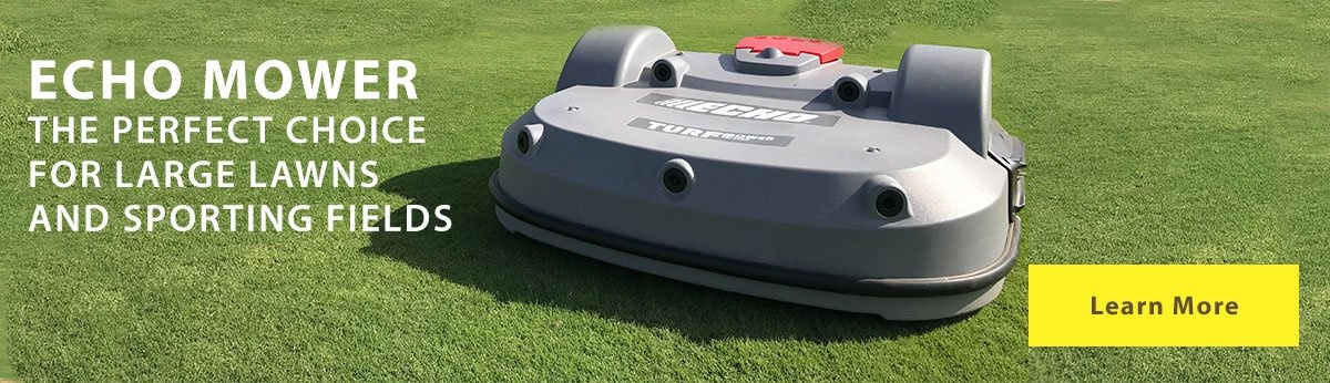 Learn about the Echo Robotics mower for large lawns and sporting fields.