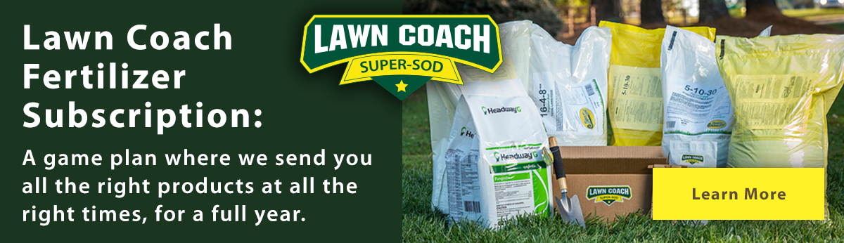 link to read more about Super-Sod's lawn coach fertilizer subscription