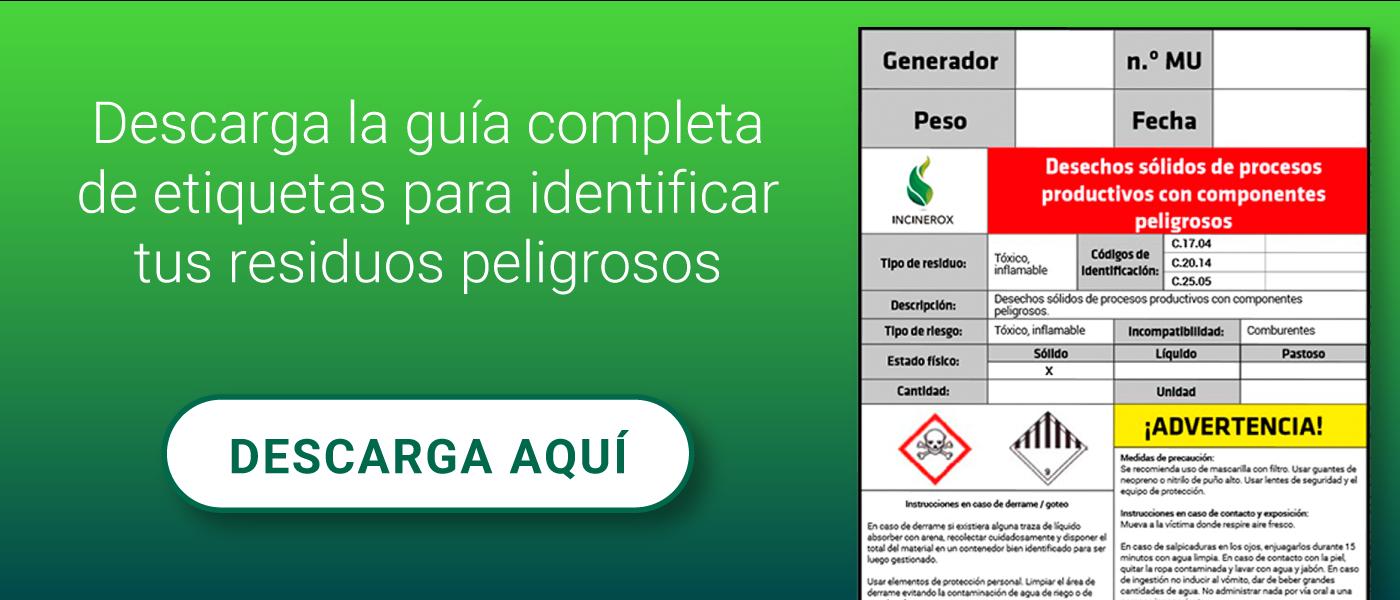 Guía etiquetas para identificar residuos peligrosos