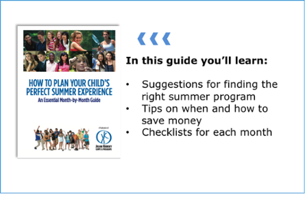How do you plan your child's summer?