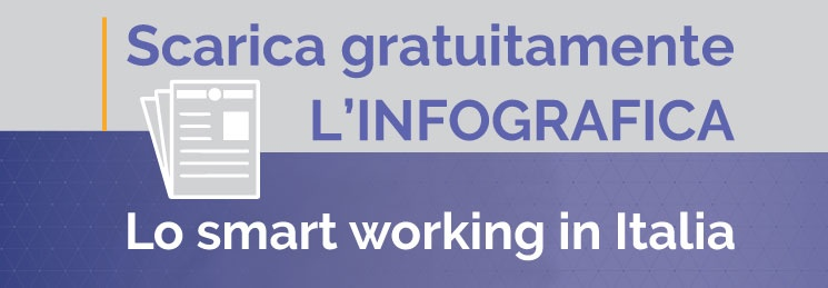 Scarica l'infografica sullo smart working in Italia