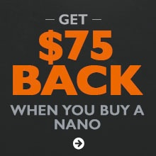 Get $75 back when you buy a Beretta Nano