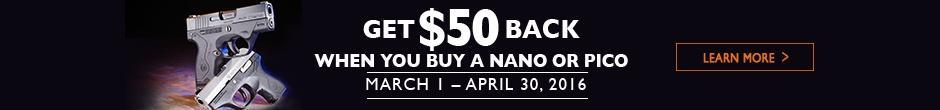 Get $50 Back when you buy a Nano or Pico