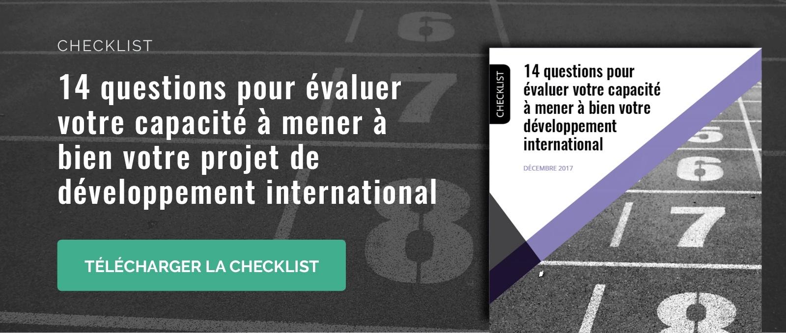 evaluer capacite a mener a bien projet developpement international