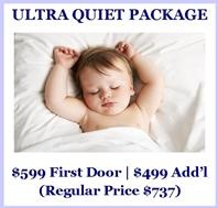 ULTRA QUIET Garage Door Package