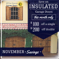 November Insulated Garage Door Sale
