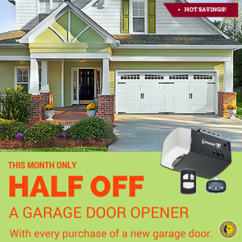 August Half Off Garage Door Opener Sale