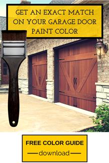 Get an Exact Match on Your Garage Door Paint Color