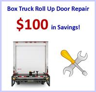 Box truck roll up door repair coupon - save $100