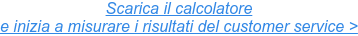 Vuoi acquisire e fidelizzare nuovi clienti? Scarica il calcolatore di KPIs di customer service.