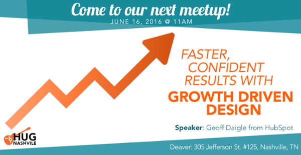 Come to our June Meetup on Growth Driven Design!