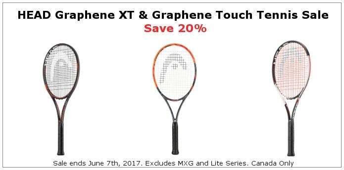 HEAD Tennis Rollback Sale Save 20%