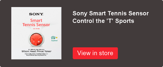 Sony Smart Tennis Sensor available at Control the 'T' Sports