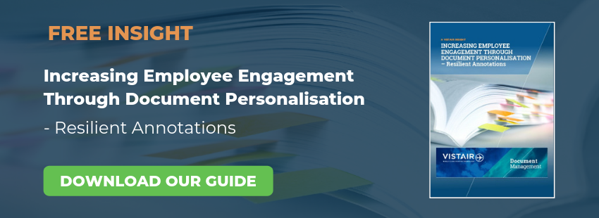 Increasing employee engagement through document personalisation