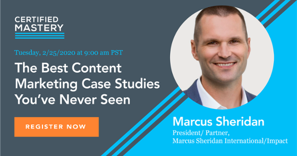 Marcus Sheridan They Ask You Answer Content Case Studies Webinar