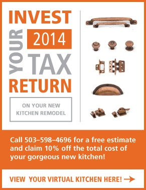 Invest Your 2014 Tax Return on Cabinet Refacing