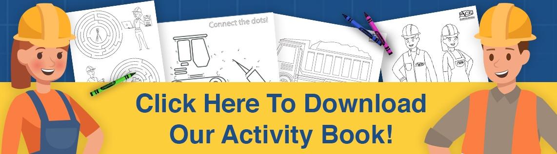 kids activity book construction