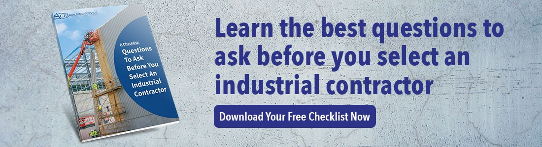 The best questions to ask before you select an industrial contractor eBook | A.C.E. Building Service