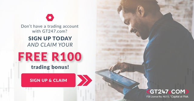 Claim your free R100 when signing up to GT247 and open a trading account
