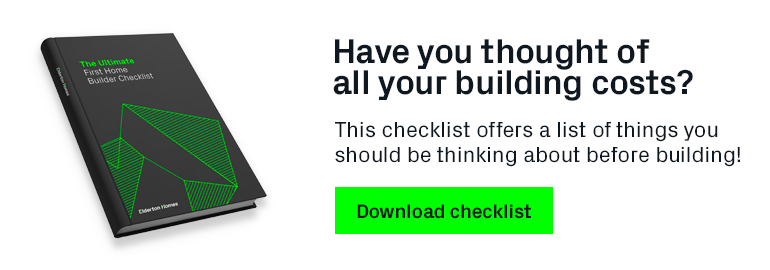 First Home Builder Checklist