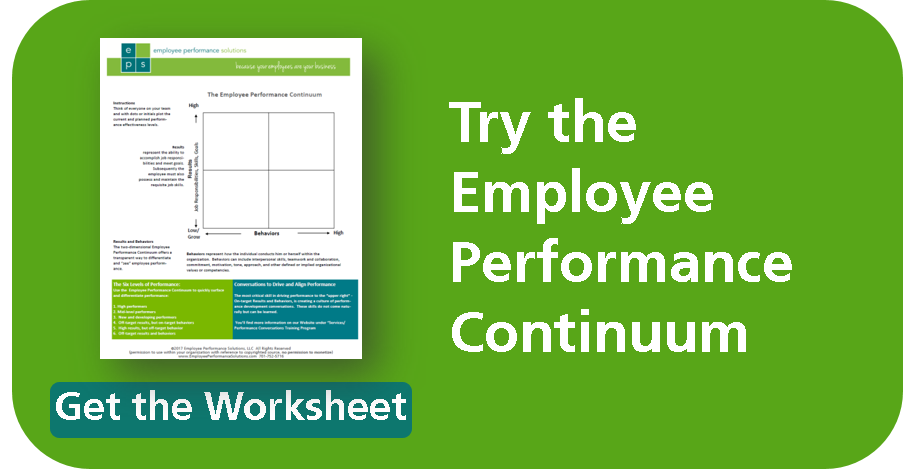 Try the Employee Performance Continuum Plotting Tool