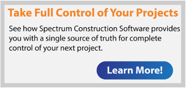 Take full control of your projects with Spectrum Construction Software