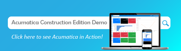 Click here to see the Acumatica Construction Edition demo!