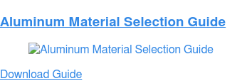 Aluminum Material Selection Guide Download Guide