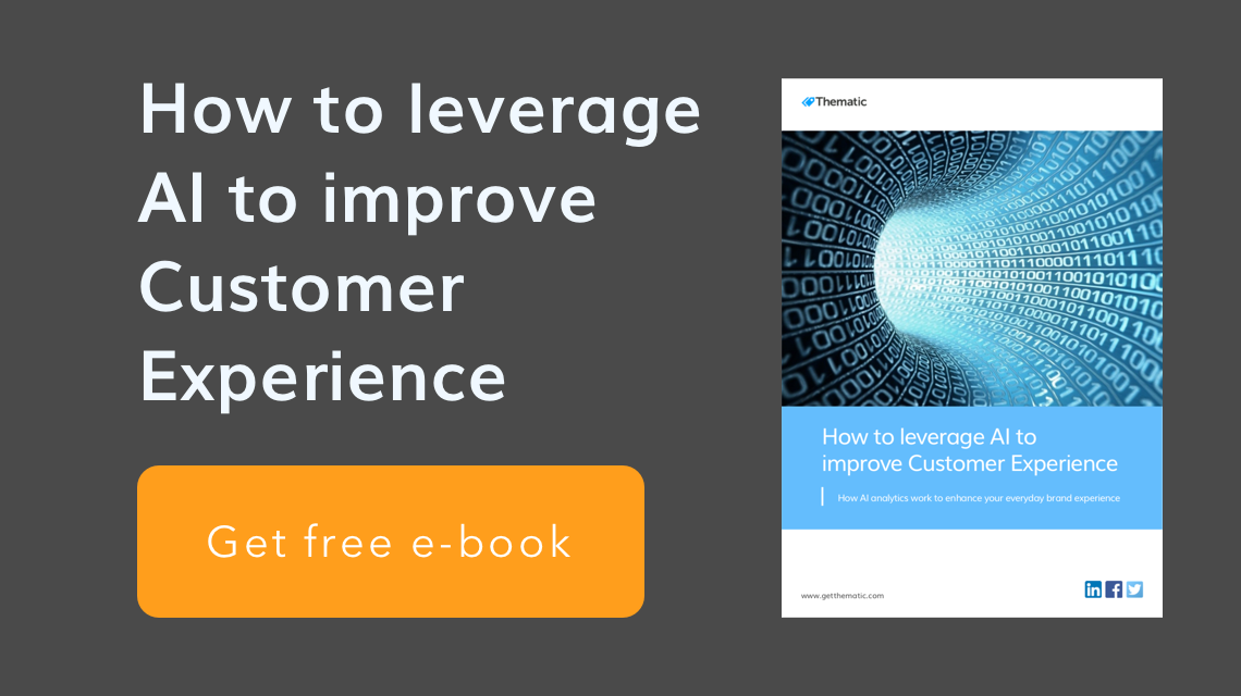 Download Thematic eBook 'How to leverage AI to improve Customer Experiance'