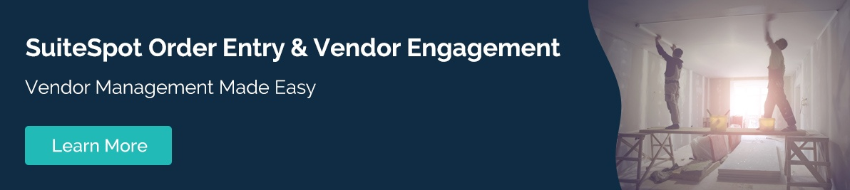 Order Entry and Vendor Engagement CTA