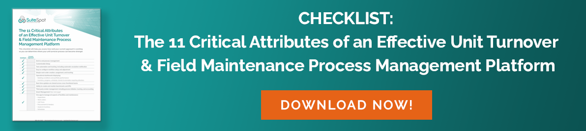 11 Critical Attributes of an Effective Turnover and Maintenance Platform