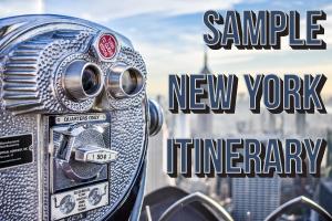 Sample New York Itinerary