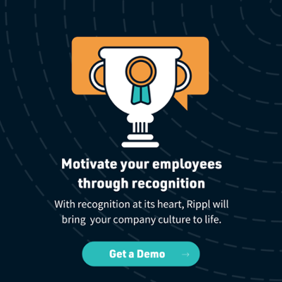 An employee being recognised for good work