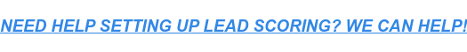 NEED HELP SETTING UP LEAD SCORING? WE CAN HELP!