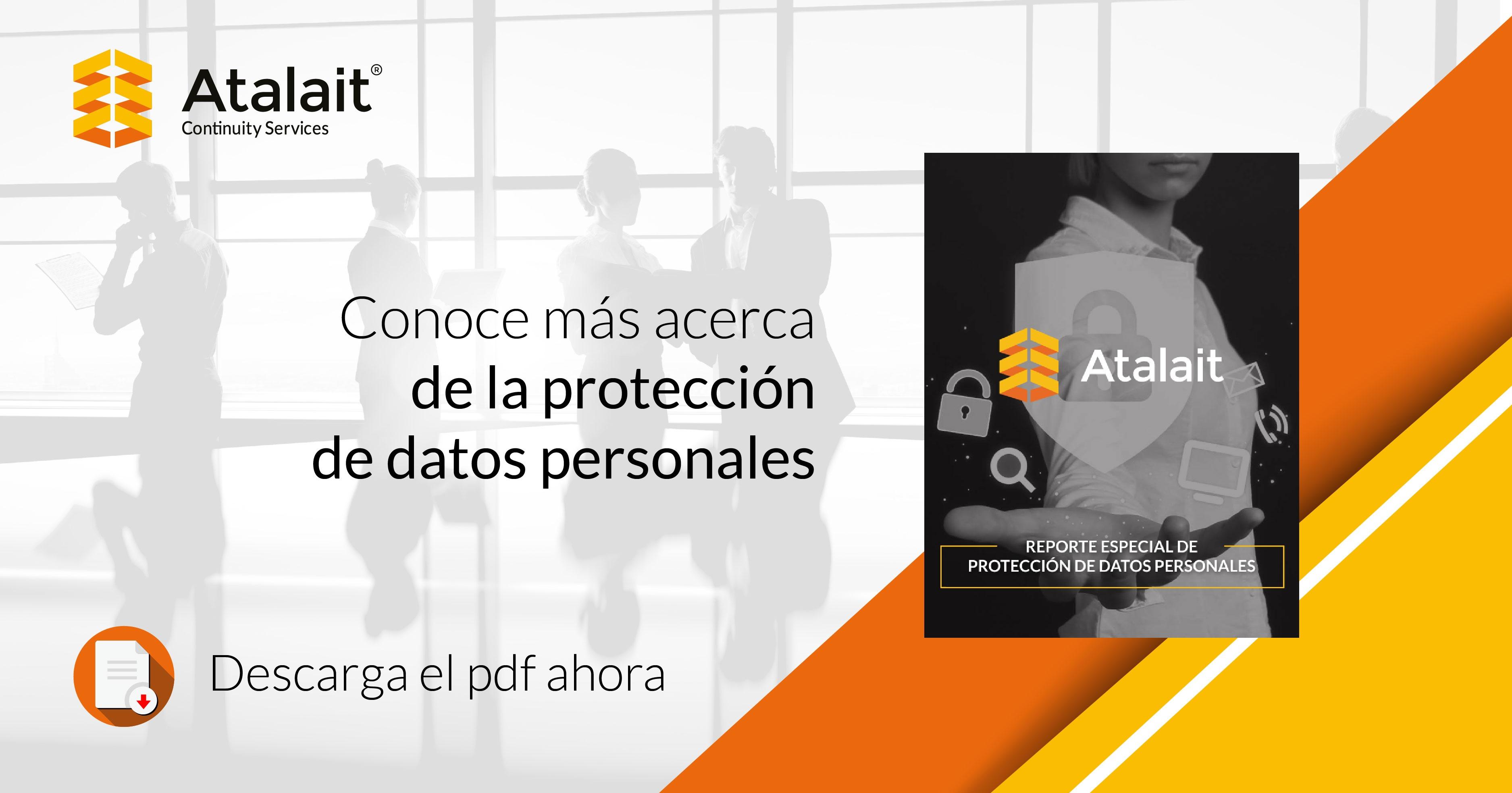Reporte Especial de Protección de Datos personales